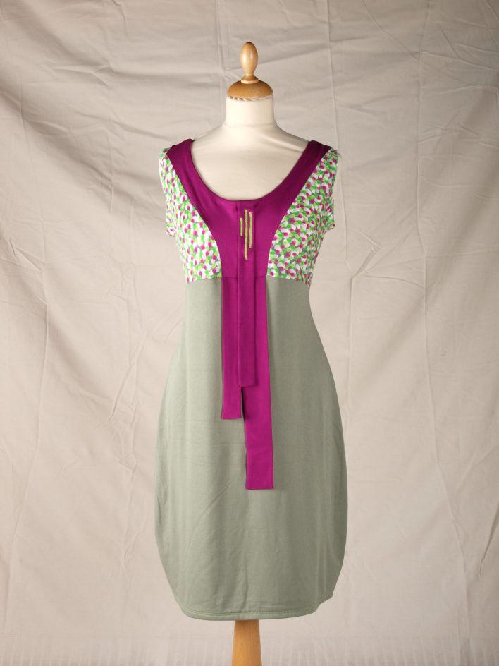 Robe collection été 2014 fushia et vert bandes graphiques centralles