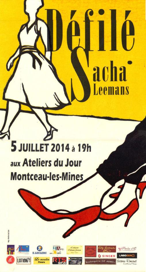 Affiche du defilé 2014 créations sacha leemans Atelier du coin